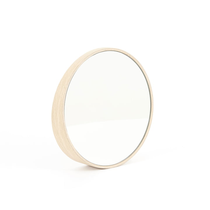 Odilon Spiegel 25 cm von Hartô in Eiche Natur