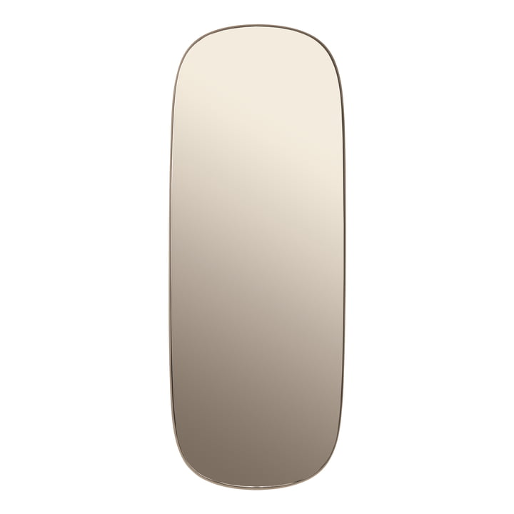 Framed Mirror groß von Muuto in taupe / taupe Glas