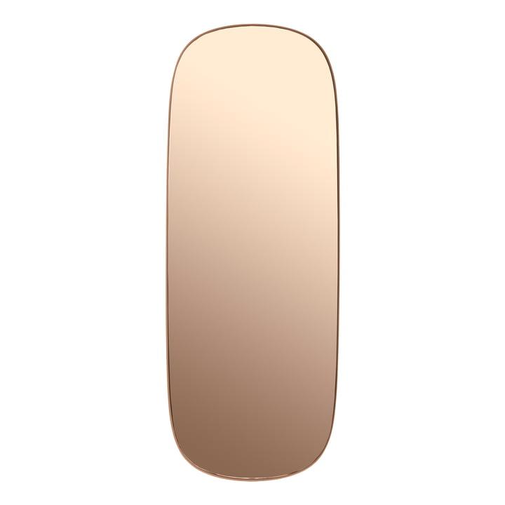 Framed Mirror groß von Muuto in rosa / rosa Glas