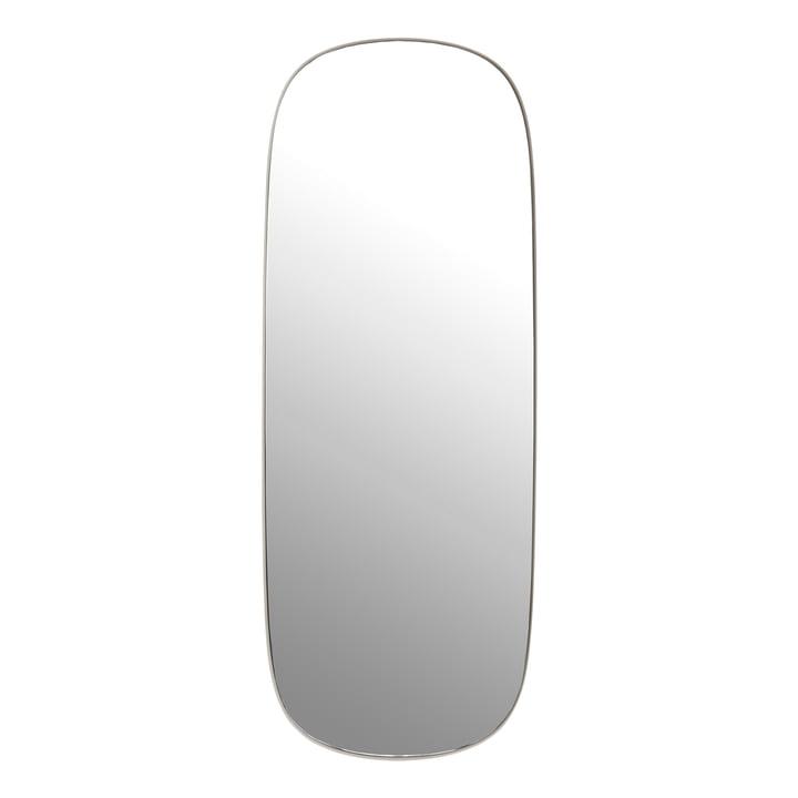Der Framed Mirror, groß in grau / Klarglas von Muuto