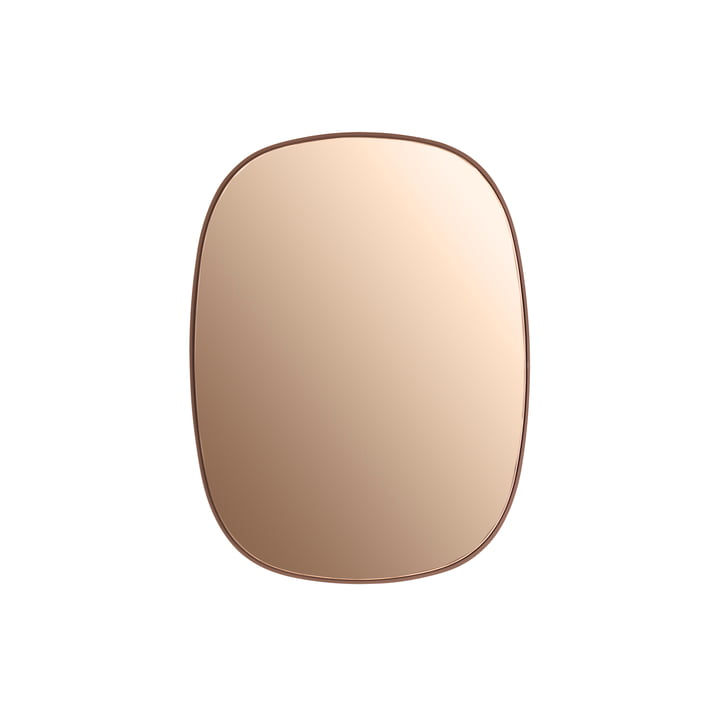 Muuto - Framed Mirror, klein, rosa / rosa Glas