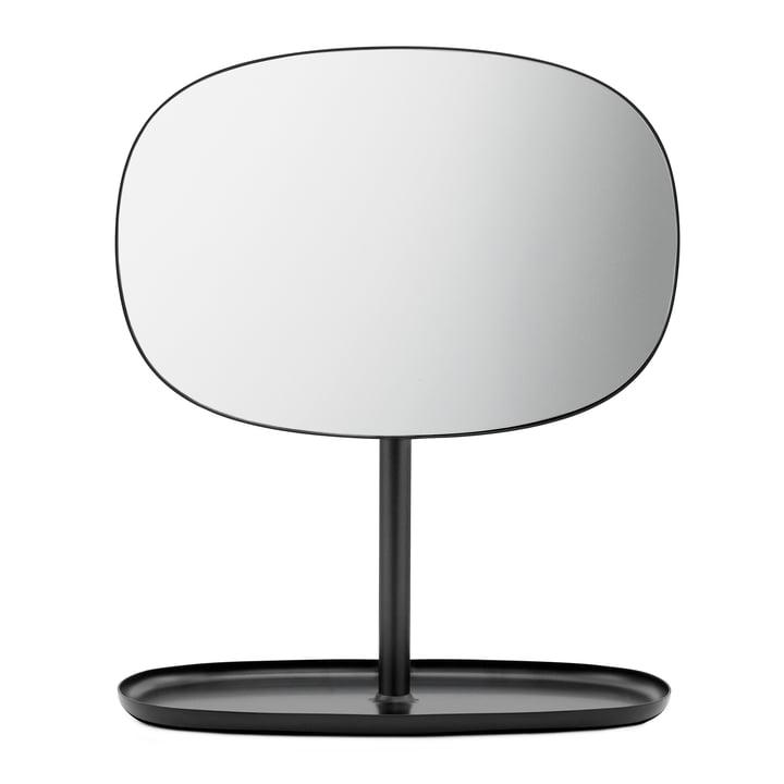 Flip Spiegel von Normann Copenhagen in Schwarz