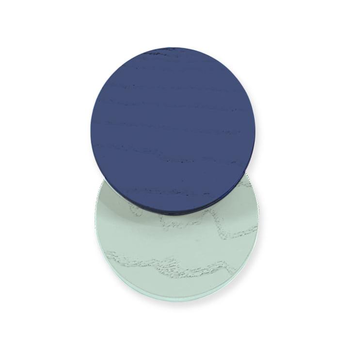 Lou Wandhaken von Hartô in Marineblau / Pastellgrün
