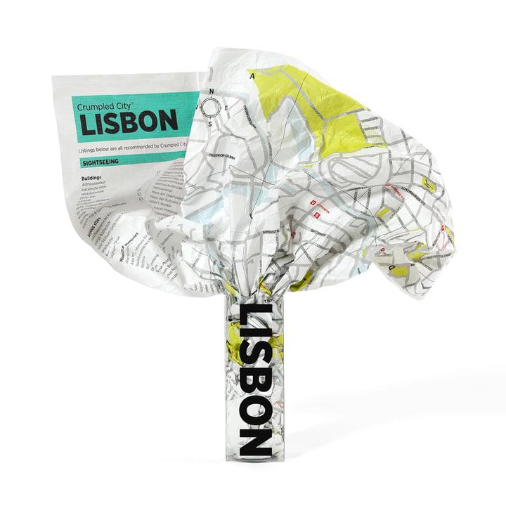 Crumpled City Map - Lissabon von Palomar