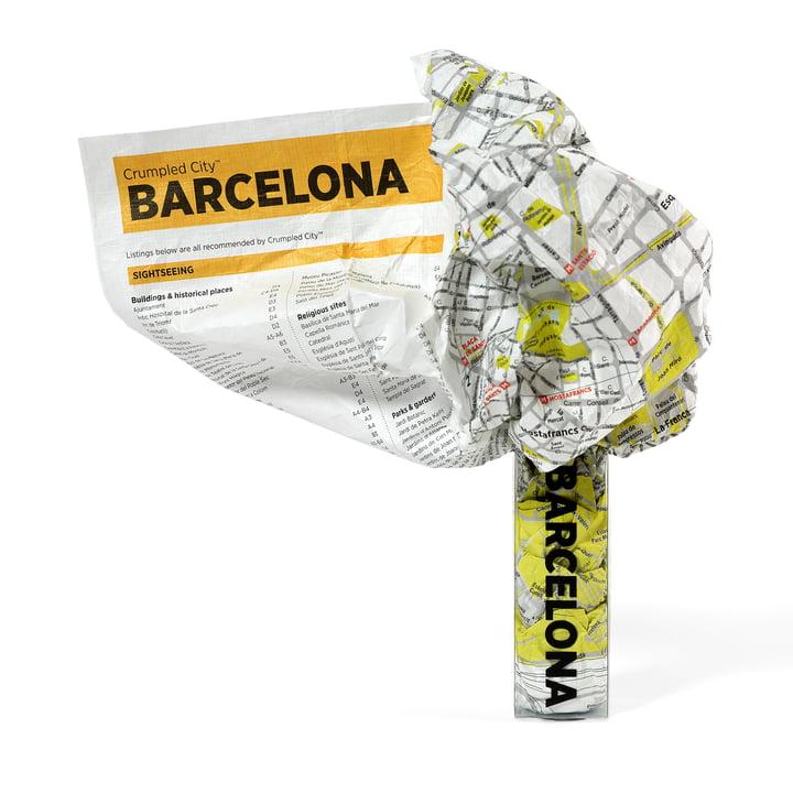 Crumpled City Map - Barcelona von Palomar