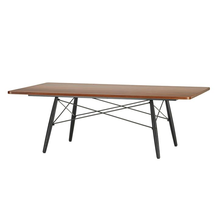 Der Eames Coffee Table in Furnier Santos Palisandermit Untergestell in Esche schwarz von Vitra