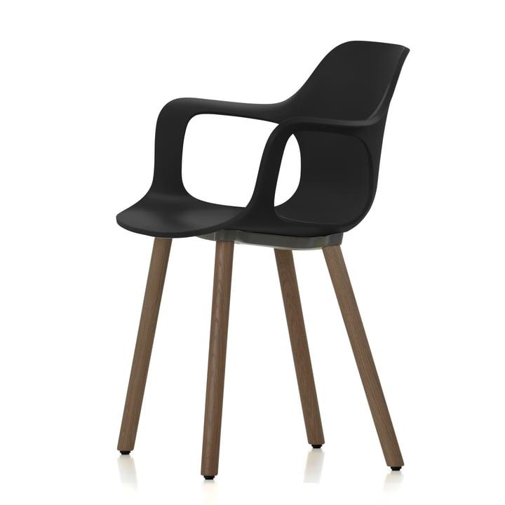 Vitra - HAL Armchair Wood, Nussbaum schwarz pigmentiert / basic