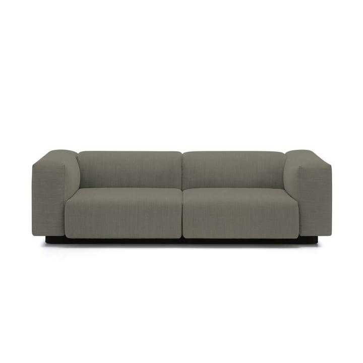 Soft Modular Sofa 2-Sitzer von Vitra in Warmgrey (Laser 05)