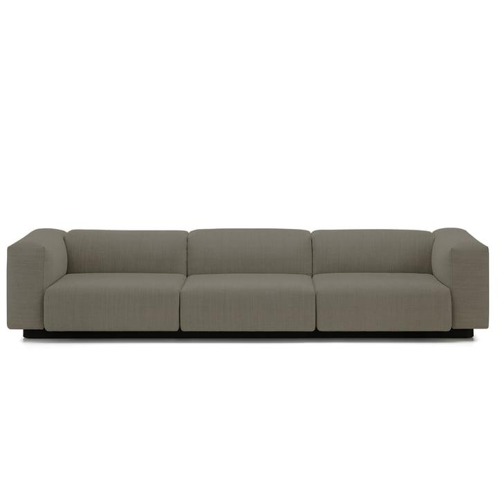 Soft Modular Sofa 3-Sitzer von Vitra in Warmgrey (Laser 05)