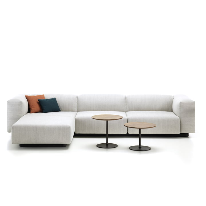 Soft Modular 3-Sitzer mit Chaiselounge und Occasional Low Table