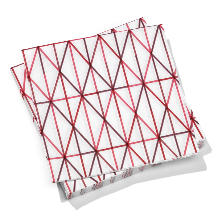 Vitra - Paper Napkins large, Grid pink 40 x 40 cm