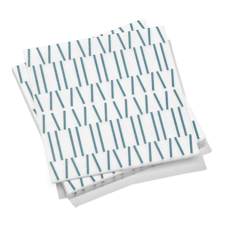 Paper Napkins large Broken Lines von Vitra in grey blue