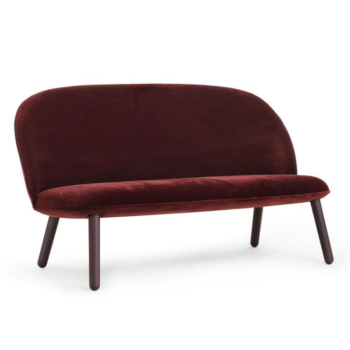 Ace Sofa Velour von Normann Copenhagen in Dark Red