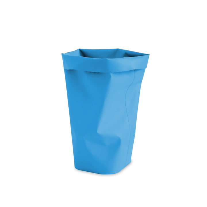 Roll-Up Papierkorb M in französisch blau von L&Z