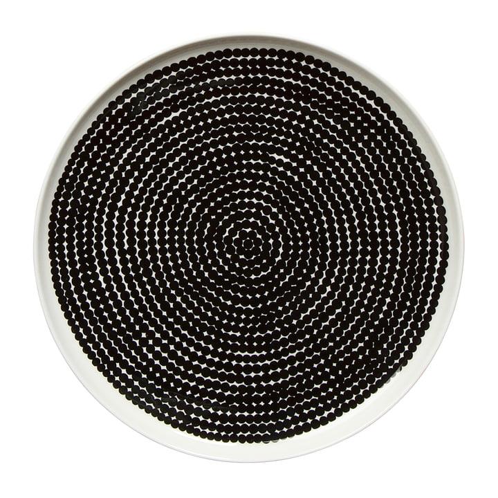 Marimekko - Oiva Räsymatto Teller Ø 25 cm, weiß / schwarz