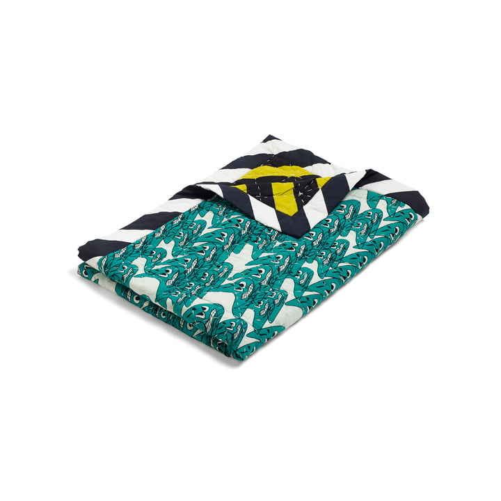 Hay -Smileys Quilt Tagesdecke, 140x200, grün / mehrfarbig