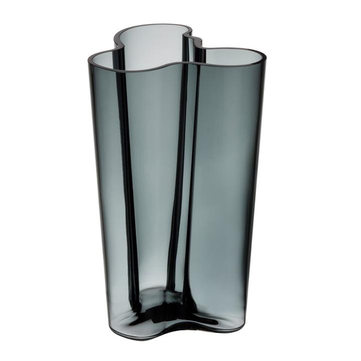 Aalto Vase Finlandia 251 mm von Iittala in Dunkelgrau