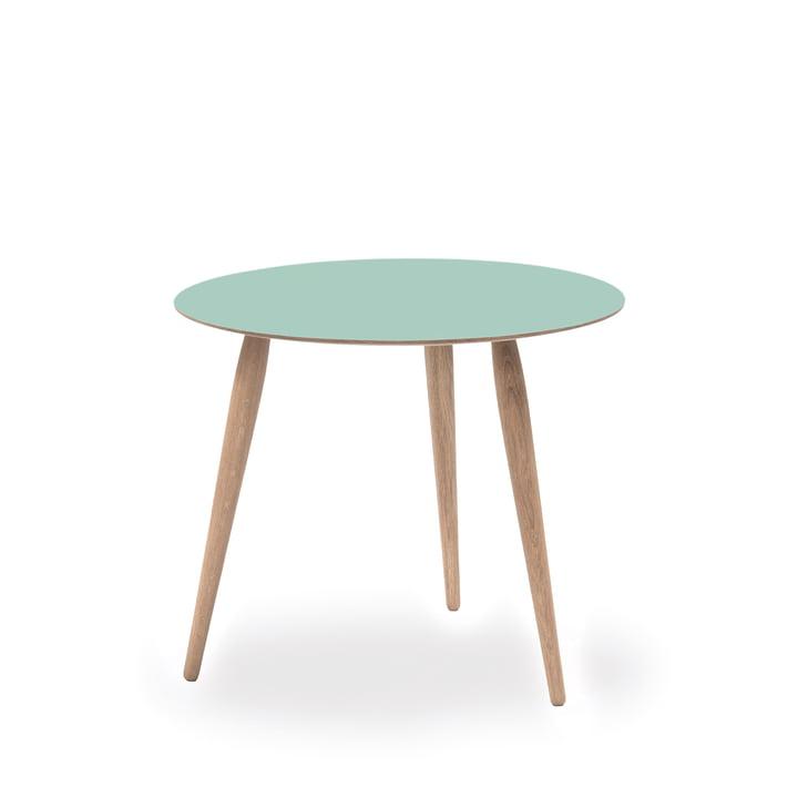 Play Round Laminate Beistelltisch Ø 45 cm von bruunmunch in Dusty Jade / Eiche weißöl