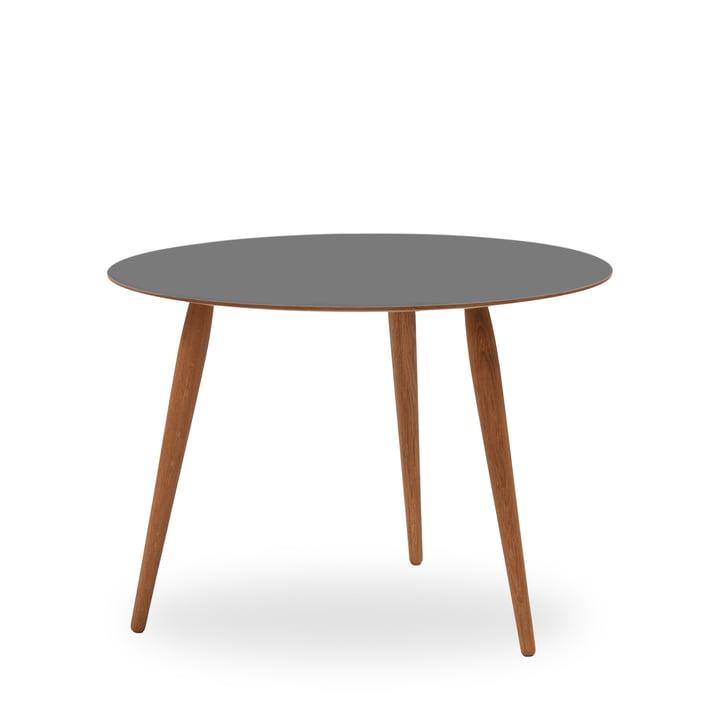 Play Round Laminate Beistelltisch Ø 90 cm von bruunmunch in Storm Grey / Eiche geölt