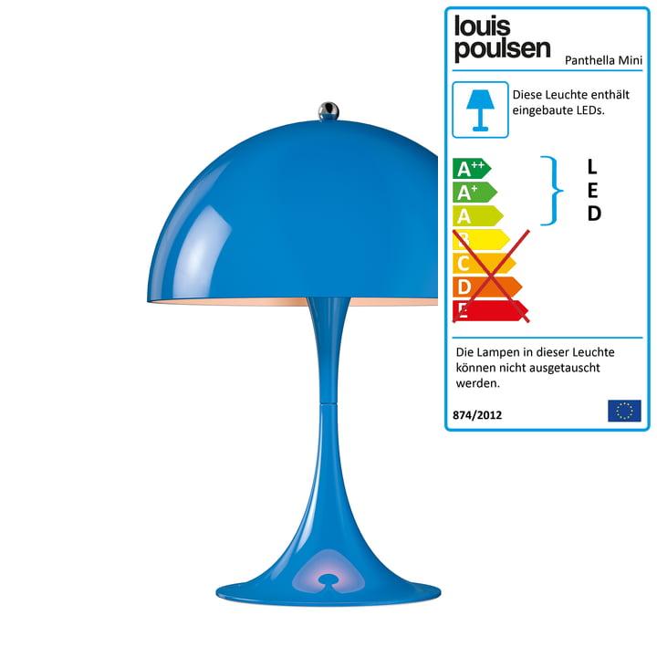Panthella Mini Tischleuchte Ø 250 von Louis Poulsen in Blau