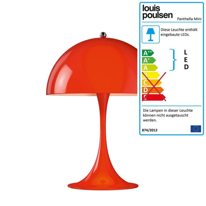 Panthella Mini Tischleuchte Ø 250 von Louis Poulsen in Rot