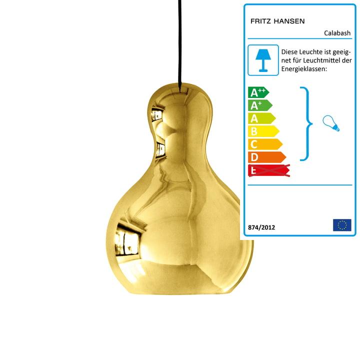 Calabash Pendelleuchte P3 von Fritz Hansen in Gold