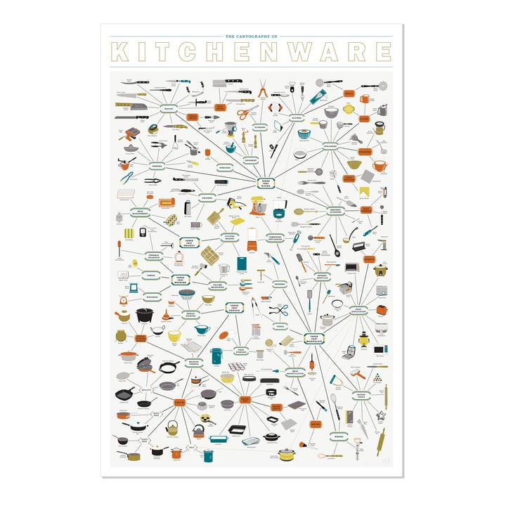 The Cartography of Kitchenware 2.0 von Pop Chart Lab