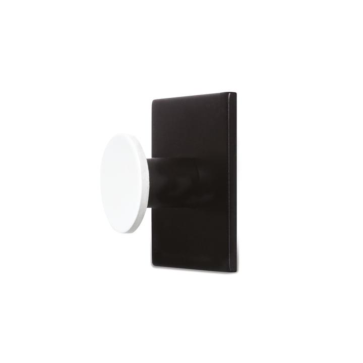 Hook1 Wandhaken von Design Letters in Schwarz / Weiß