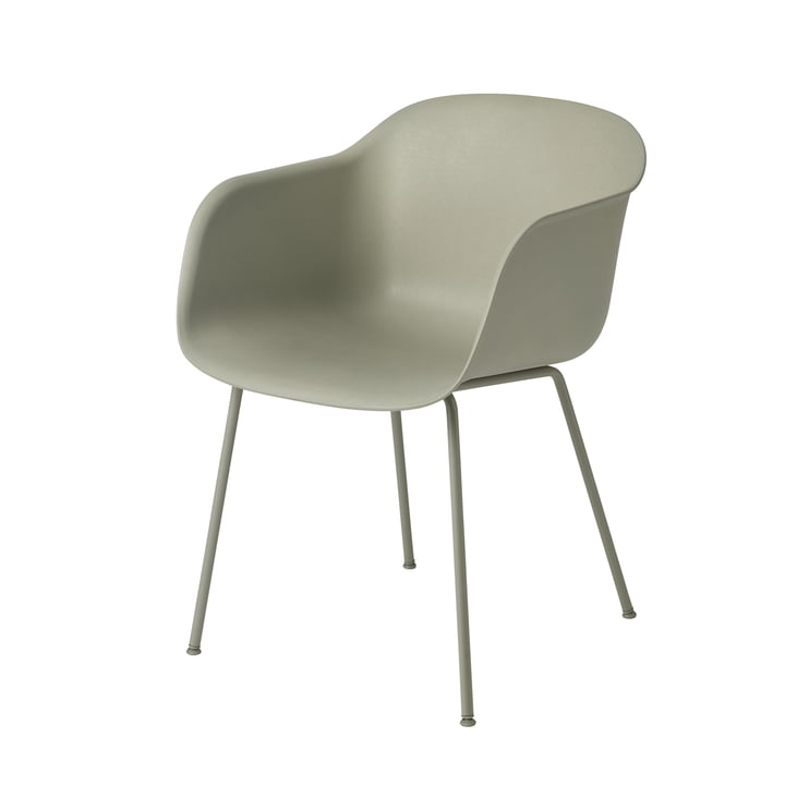 Fiber Chair Tube Base von Muuto in dusty green