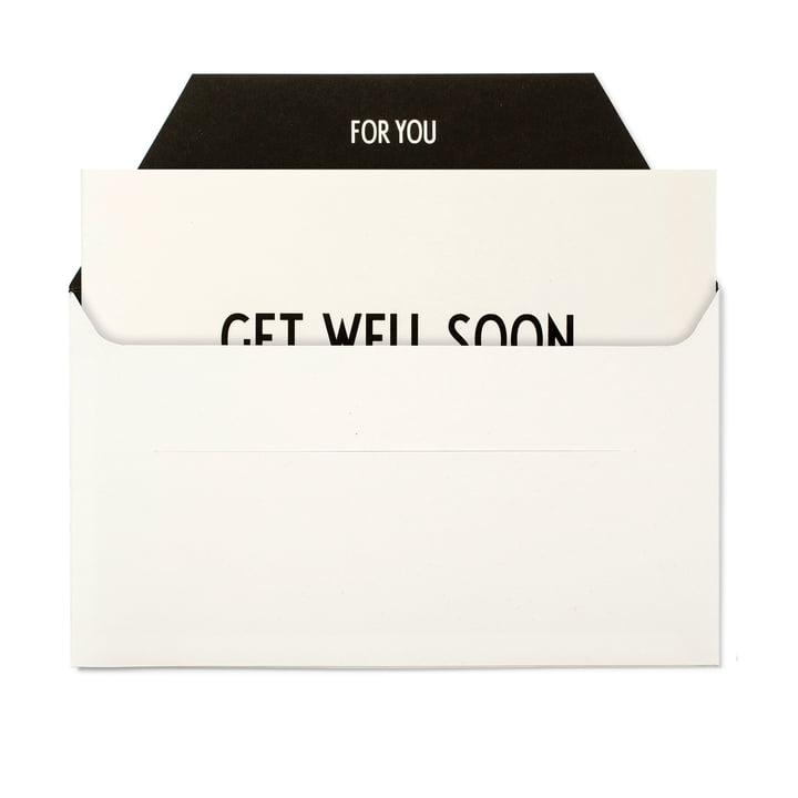 Design Letters - AJ Grußkarte, Get well Soon