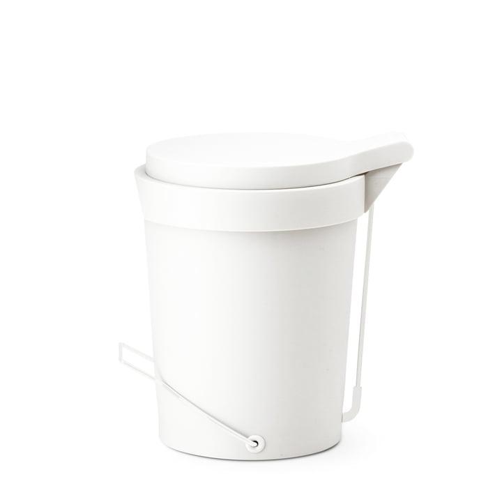 Authentics - Tip Treteimer 7 Liter, Ø 22 cm, weiß, verchromt