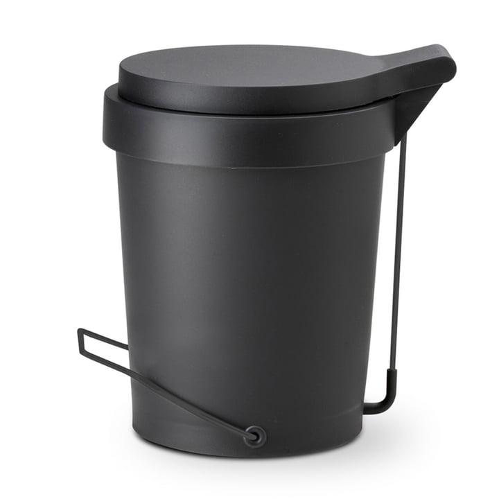 Authentics - Tip Treteimer 15 Liter, Ø 29 cm, schwarz / schwarz