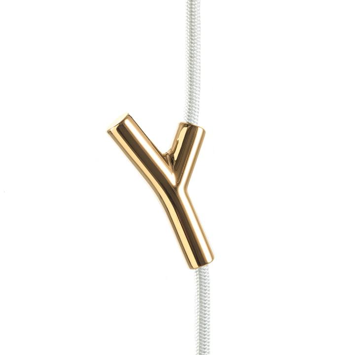 Das Authentics - Wardrope Garderobenseil in weiß / gold