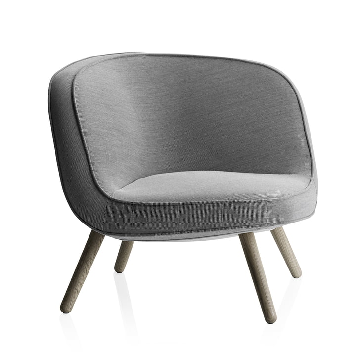 Fritz Hansen - Lounge Chair VIA57, Steelcut Trio 124 schwarz / weiß