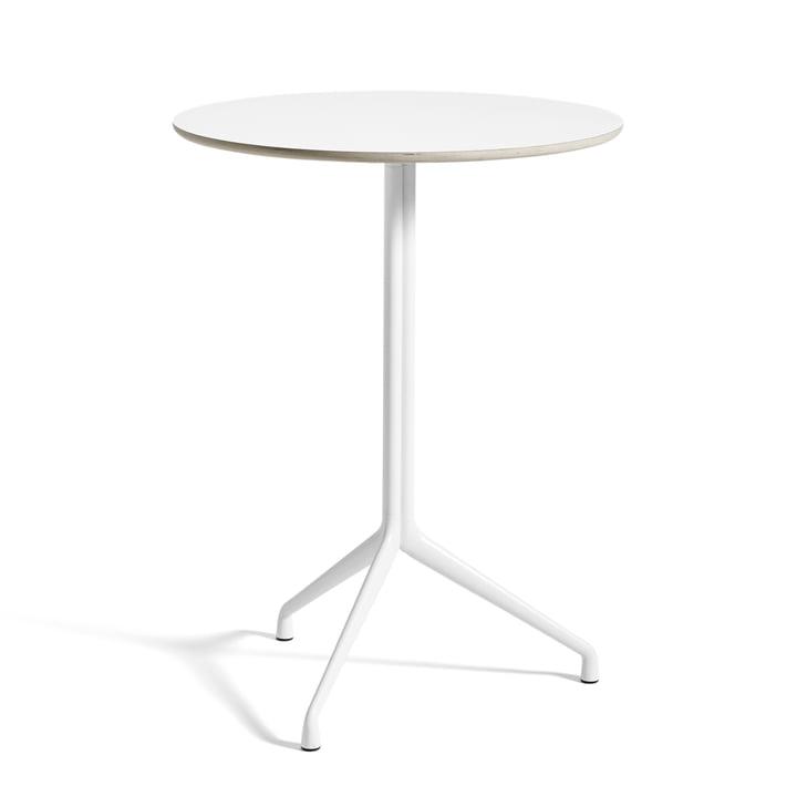 Hay - About A Table AAT 20 Stehtisch, 3-beinig, Ø80 x H105 cm, weiß/weiß (Kunststoffgleiter)