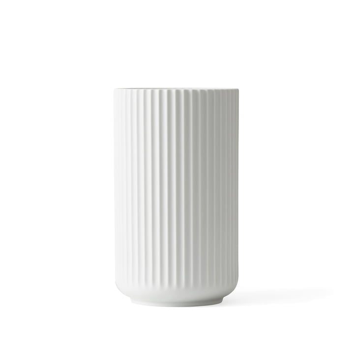 Lyngby Porcelæn - Lyngbyvase, weiß matt, H 15 cm