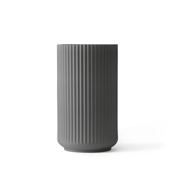 Lyngby Porcelæn - Lyngbyvase, dunkelgrau, H 15 cm