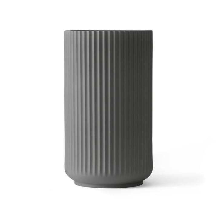 Lyngby Porcelæn - Lyngbyvase, dunkelgrau, H 25 cm