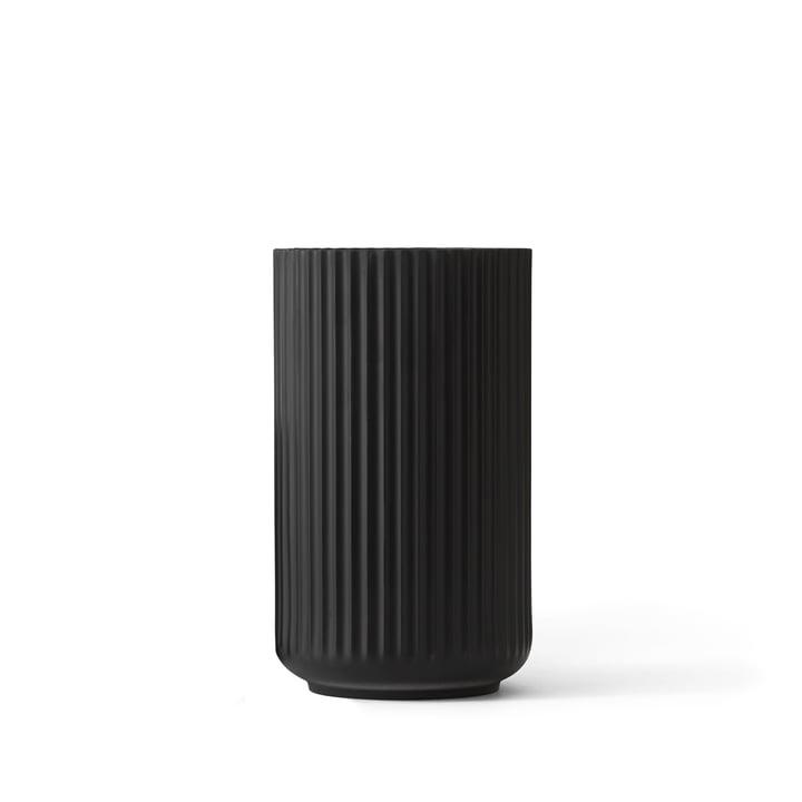 Lyngbyvase schwarz von Lyngby Porcelæn H 12 cm