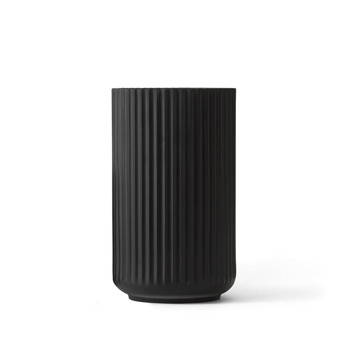 Lyngby Porcelæn - Lyngbyvase, schwarz, H 15 cm