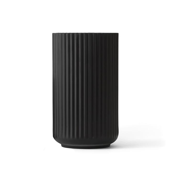Lyngbyvase schwarz von Lyngby Porcelæn H 20,5 cm