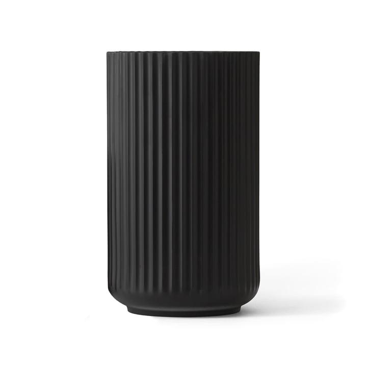 Lyngbyvase schwarz von Lyngby Porcelæn H 25 cm