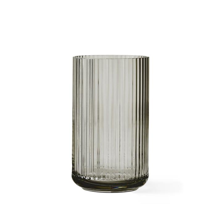 Glasvase H 15 cm von Lyngby Porcelæn in Smoke