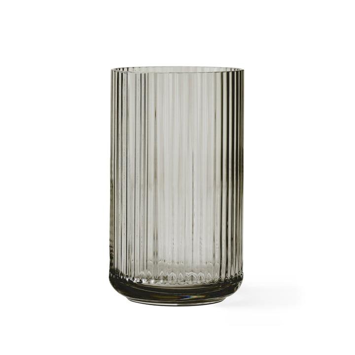 Lyngby Porcelæn - Glasvase, smoke, H 20 cm