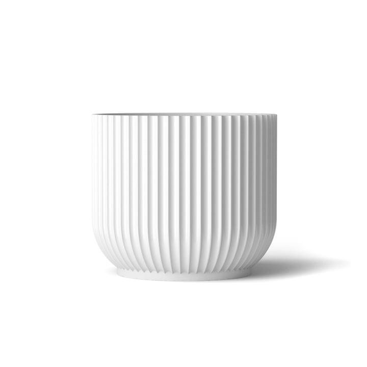 Blumentopf M von Lyngby Porcelæn in Weiß