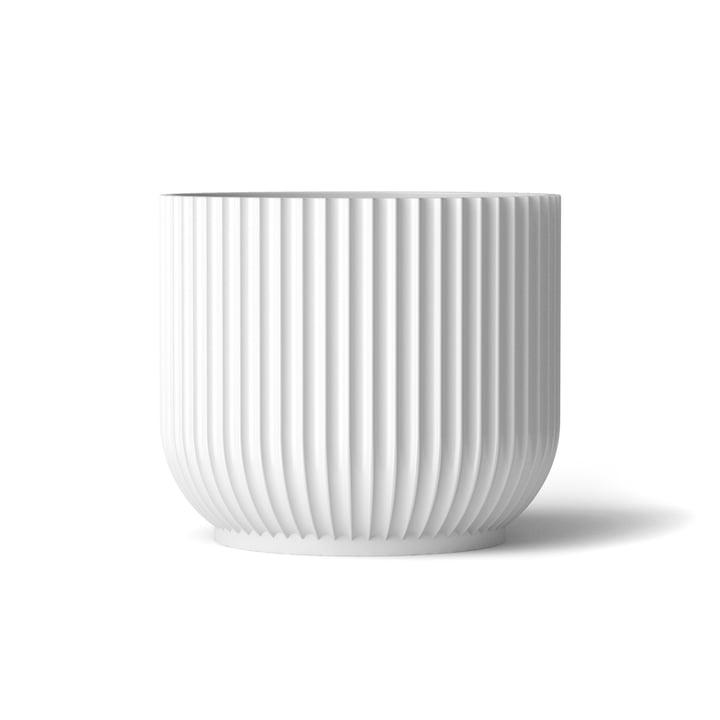 Blumentopf L von Lyngby Porcelæn in Weiß