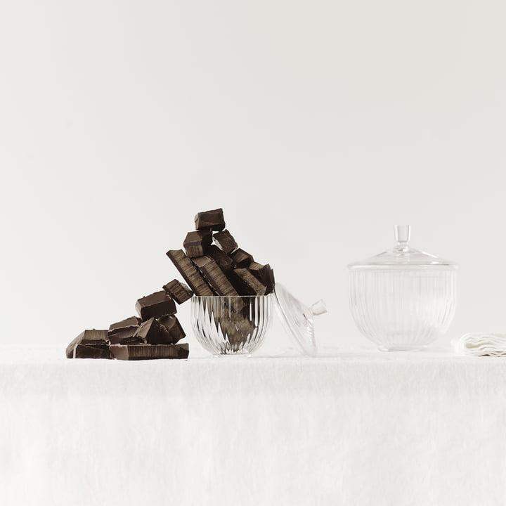 Bonbonniere aus Glas von Lyngby Porcelæn