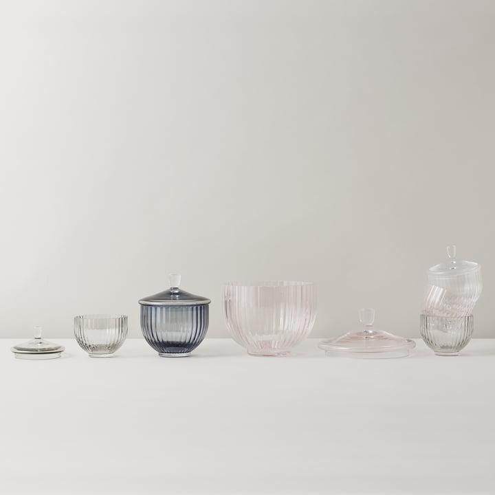 Bonbonniere aus Glas in verschiedenen Größen