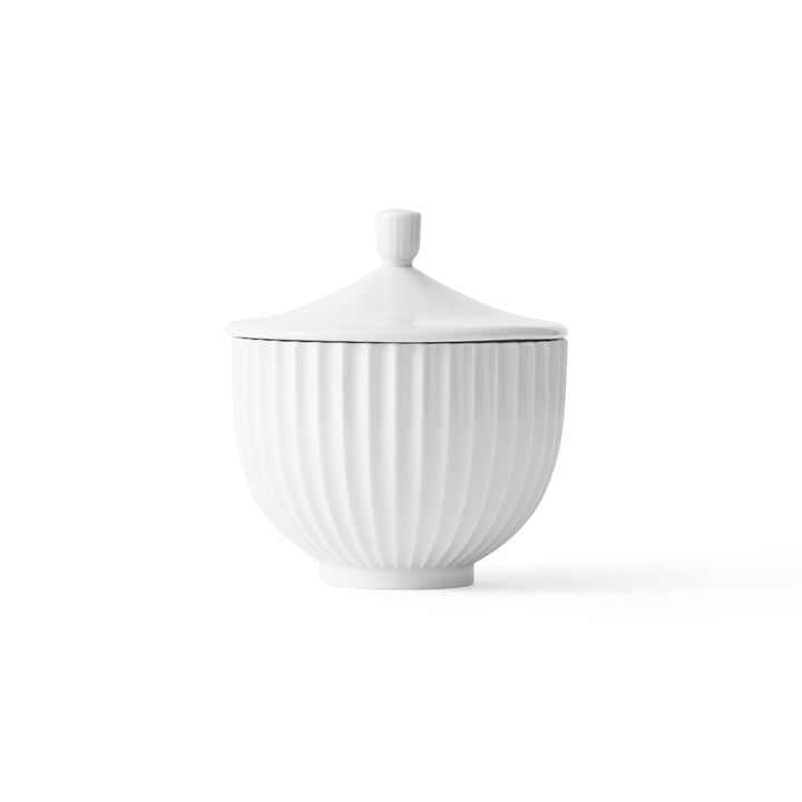 Bonbonniere Porzellan ø 14 cm von Lyngby Porcelæn in Weiß