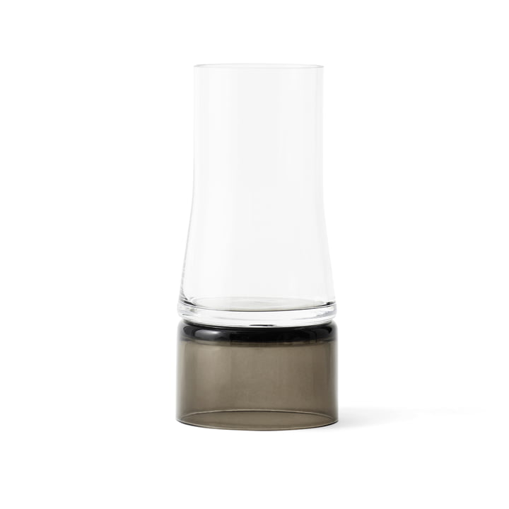 Joe Colombo Vase 2-in-1 von Lyngby Porcelæn in Transparent / Smoke